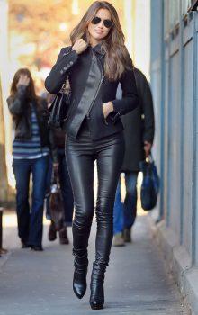 модные кожаные брюки 2017 фото (1)
