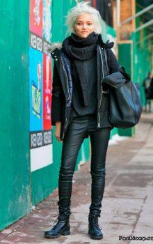 модные кожаные брюки 2017 фото (18)
