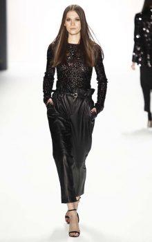 модные кожаные брюки 2017 фото (30)