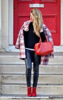 модные кожаные брюки 2017 фото (7)