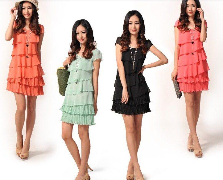 модные многослойные платья 2017 фото (4)
