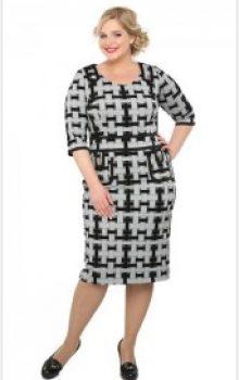 модные офисные платья для полных 2017 фото (12)