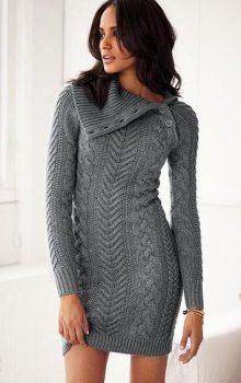 модные платья-свитер 2017 фото (1)