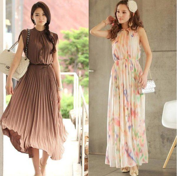 модные шифоновые платья 2017 фото (18)