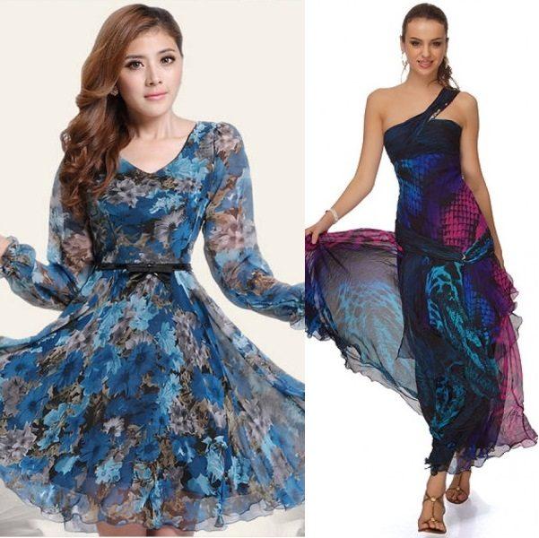 модные шифоновые платья 2017 фото (19)