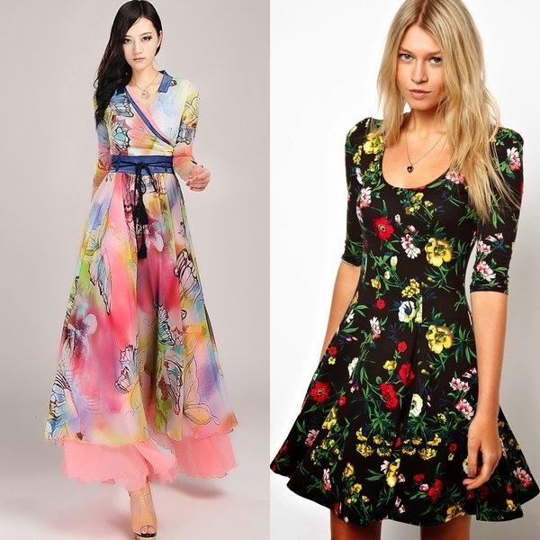 модные шифоновые платья 2017 фото (22)