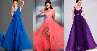 модные шифоновые платья 2017 фото (39)