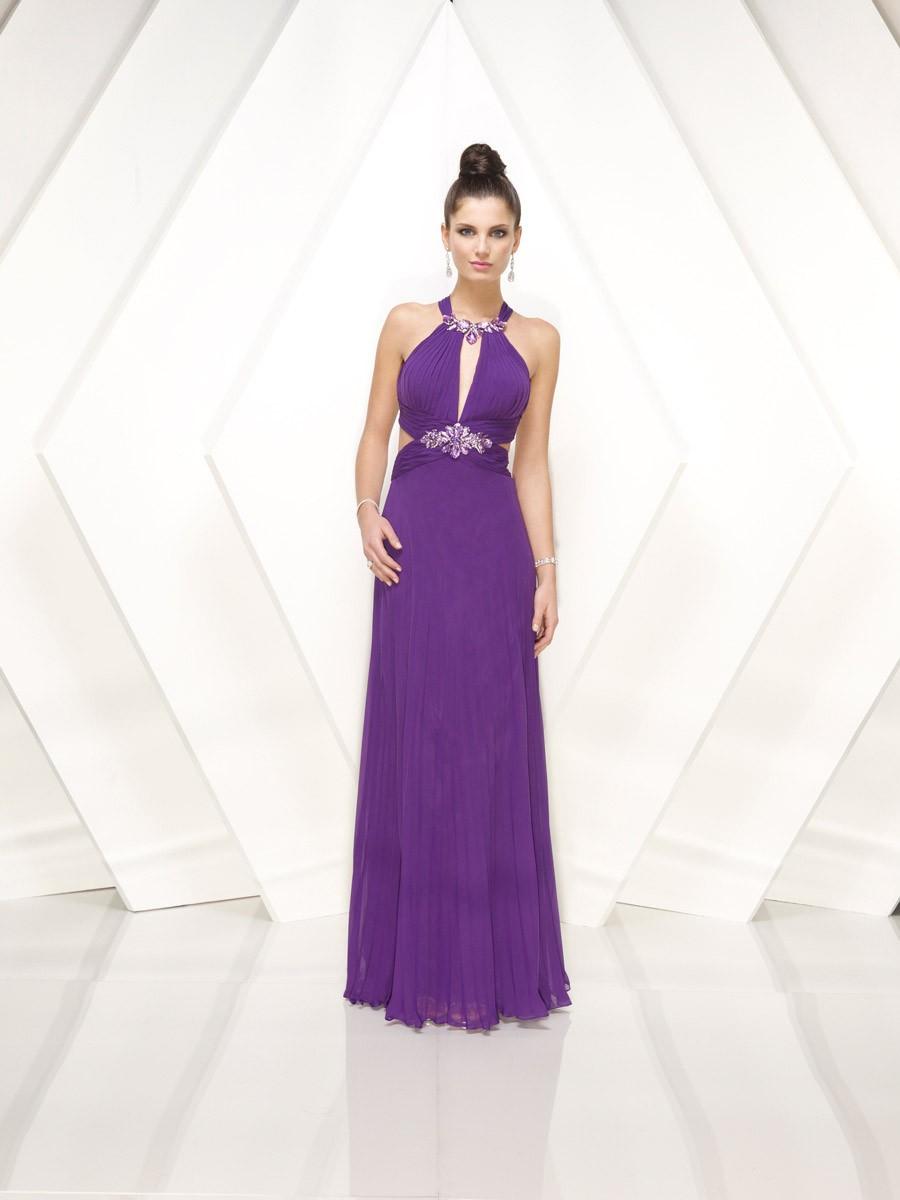 Фиолетовые Платья В Пол 2017