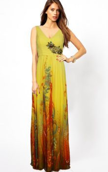 модные шифоновые платья 2017 фото (77)