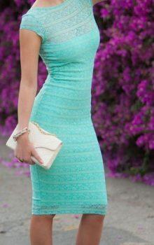 Mint Green Lacey Bodycon Midi Dress by Fashion Addict