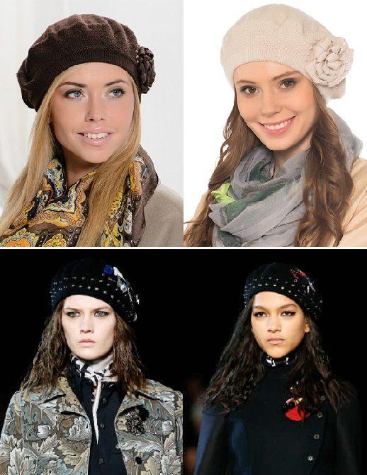 модные женские шапки 2016-2017 фото (5)