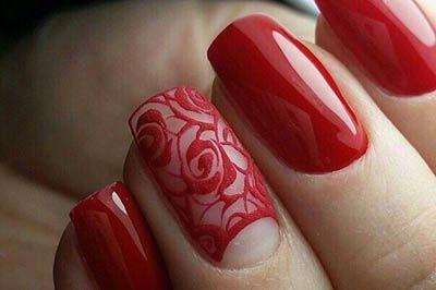 Красные ногти на ногтях 2017 новинки