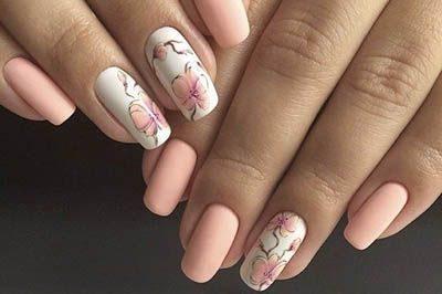 Маникюр для нарощенных ногтей 2018