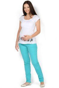 С чем носить бирюзовые брюки фото (4)
