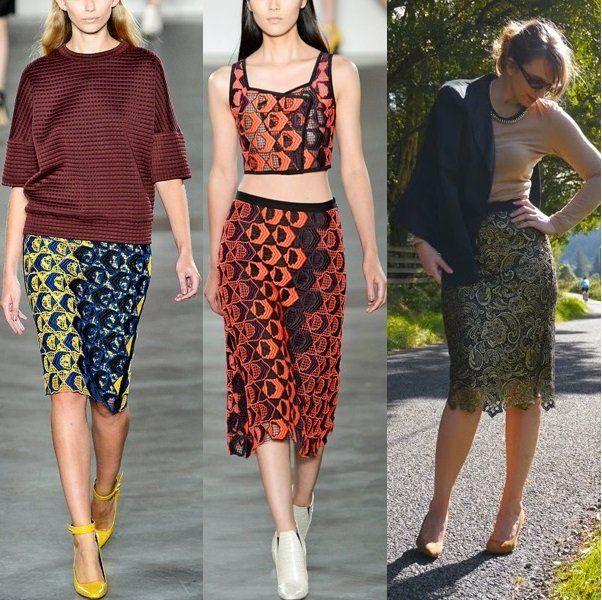 С чем носить гипюровую юбку фото (18)