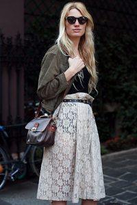 С чем носить гипюровую юбку фото (2)