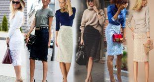 С чем носить гипюровую юбку фото (23)