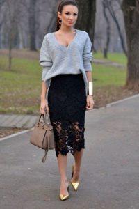 С чем носить гипюровую юбку фото (29)