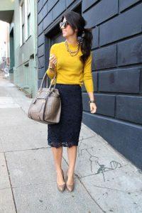 С чем носить гипюровую юбку фото (30)