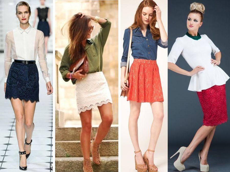 С чем носить гипюровую юбку фото (4)