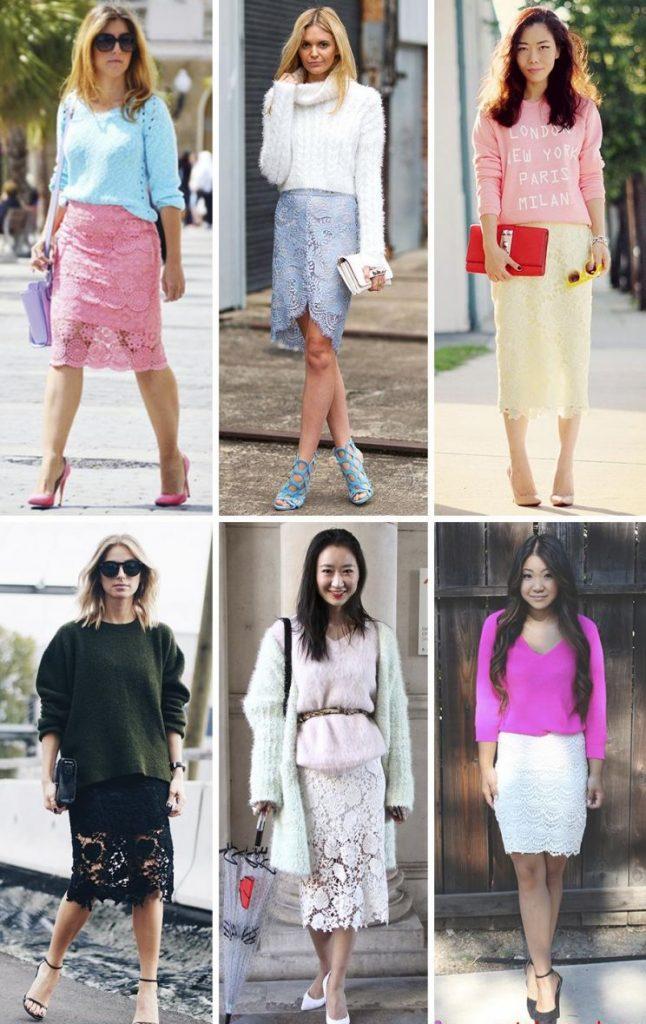 С чем носить гипюровую юбку фото (54)