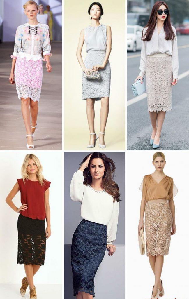 С чем носить гипюровую юбку фото (58)