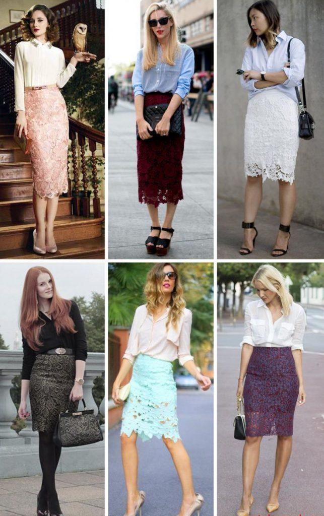С чем носить гипюровую юбку фото (6)