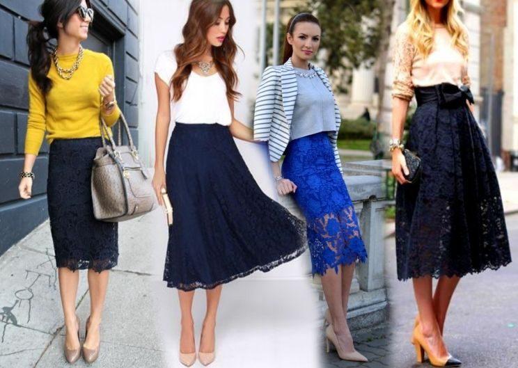 С чем носить гипюровую юбку фото (7)