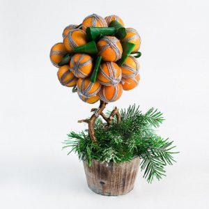 Мандариновый топиарий для декора
