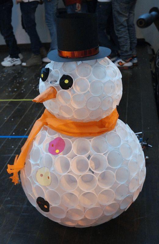Забавный снеговичок