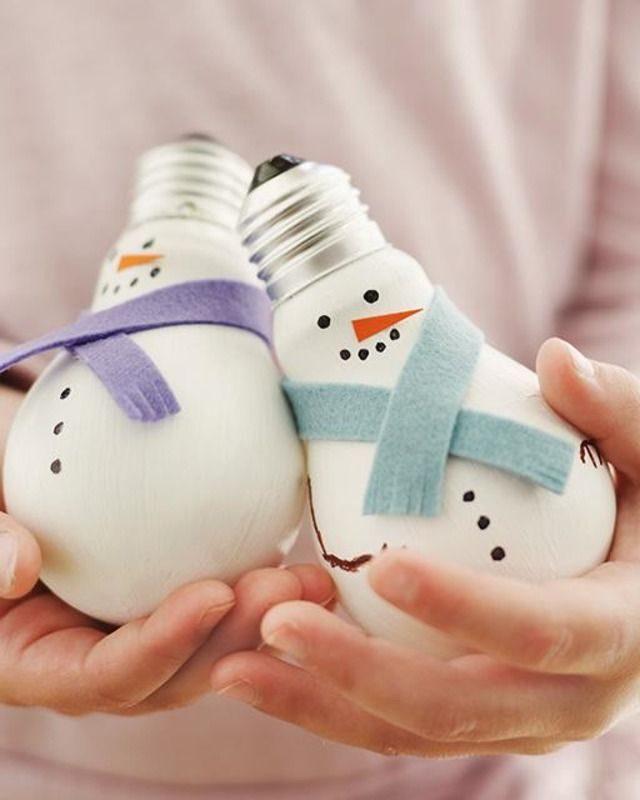 Лампочные снежные человечки