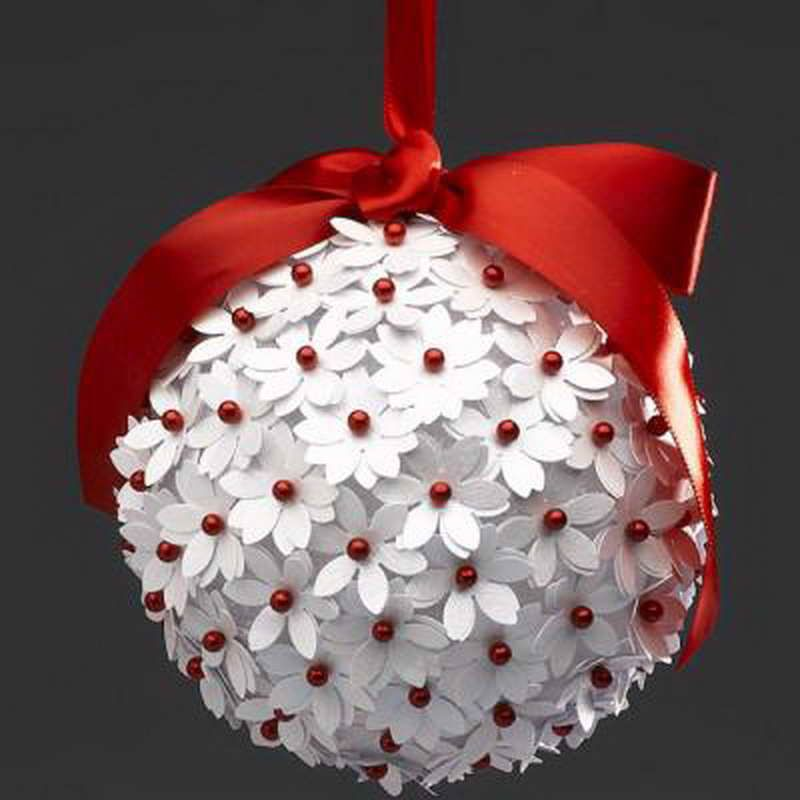 Поделки своими руками новогодний шарик