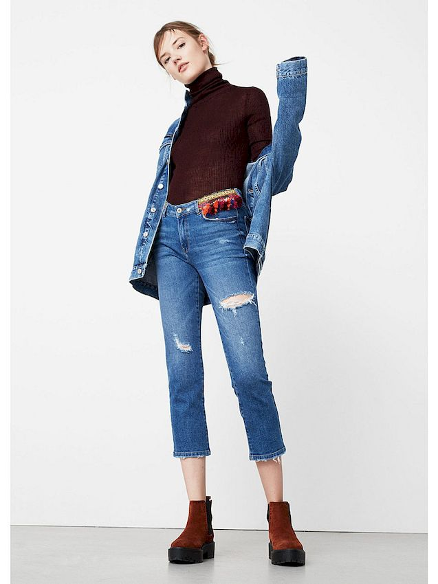 Супер модные укороченные джинсы: Фото самых лучших моделей