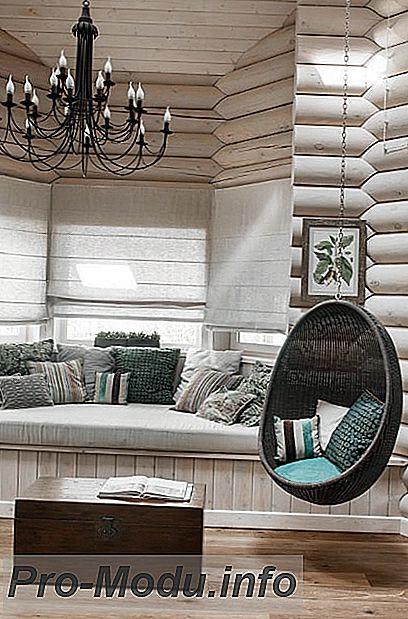 Подвесные кресла: необычные решения в интерьере