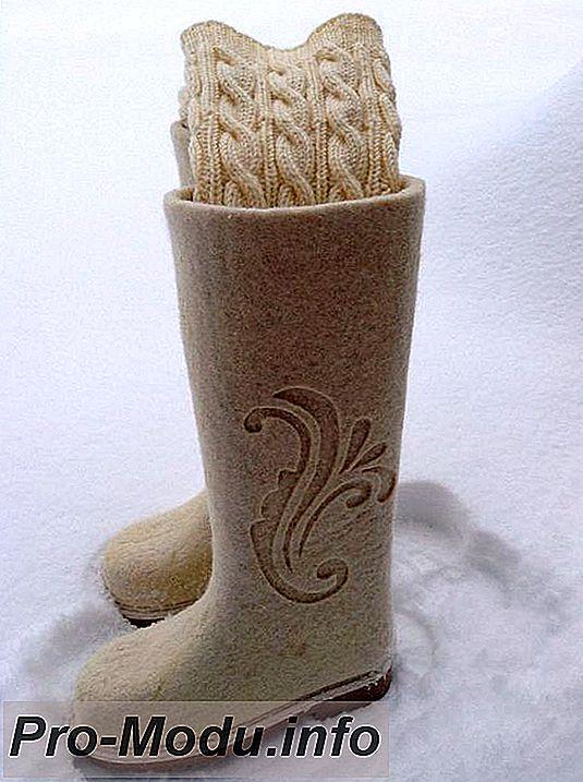 Стильная зимняя обувь: Валенки на фото