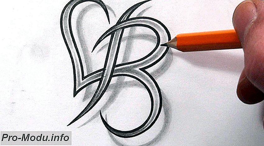 Оригинальные татуировки букв