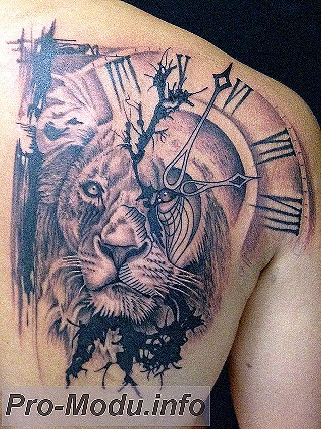 Татуирвка в виде часов: сюжет, композиции, значения…