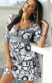 Модные расцветки туник фото (23)