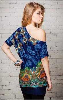 Модные расцветки туник фото (9)