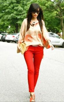 Повседневные образы с узкими брюками, джинсами фото (26)