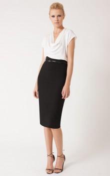 С чем носить черную юбку карандаш фото (10)