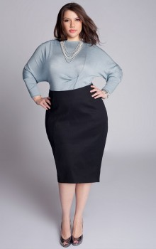С чем носить черную юбку карандаш фото (17)