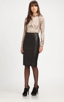 С чем носить черную юбку карандаш фото (3)