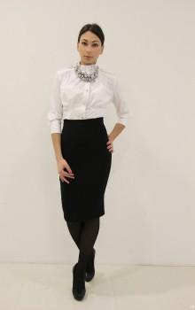 С чем носить черную юбку карандаш фото (4)