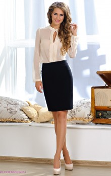 С чем носить черную юбку карандаш фото (6)