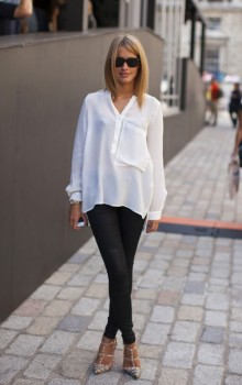 С чем носить узкие женские брюки фото (21)
