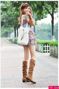 С чем носить замшевые сапоги на каблуке фото (14)