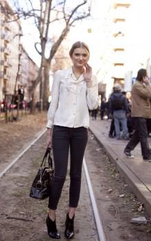 С какой обувью носить узкие брюки фото (35)