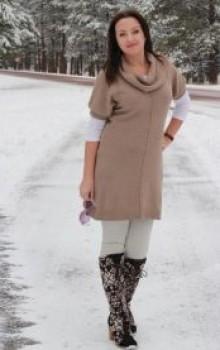 что носить с туникой зимой фото (22)