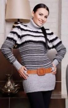 что носить с туникой зимой фото (24)